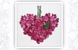 Набор для вышивания  Фиолетовое сердце. Май - фото 24598