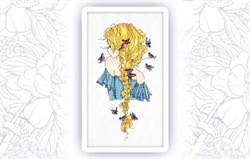 Набор для вышивания  Девушка Зима - фото 24606