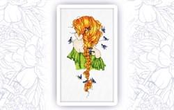 Набор для вышивания  Девушка Весна - фото 24608