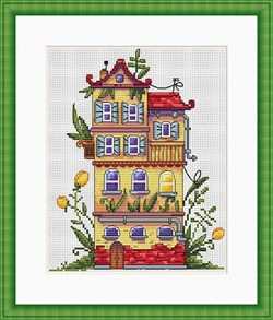 Набор для вышивания  Весенний домик - фото 25111
