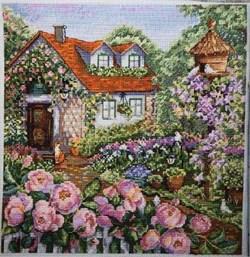 Набор для вышивания  Домик в розах - фото 25198