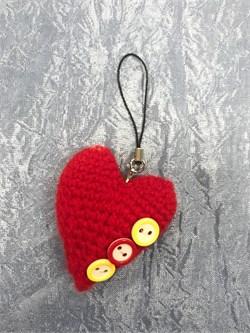 Брелок  сердечко вязаное - фото 25760