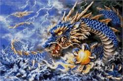 Набор для вышивки бисером  Голубой дракон - фото 26027