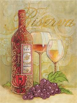 Набор для вышивания бисером  Бокалы  и вино - фото 26891