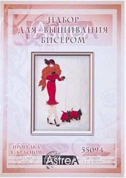 Набор для вышивания бисером  Прогулка в красном - фото 26935