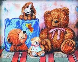 Набор для вышивания бисером  Плюшевые медведи 1 - фото 26938