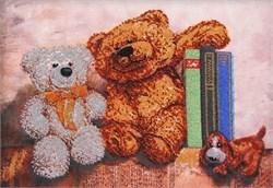 Набор для вышивания бисером  Плюшевые медведи 2 - фото 26939