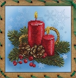 Набор для вышивания  Праздничные свечи - фото 27032