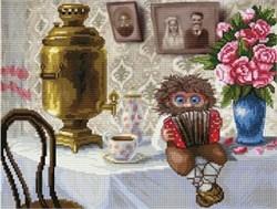 Набор для вышивания  Домовой с гармошкой - фото 27035