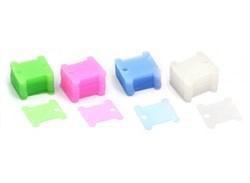 Бобины (шпули) для мулине пластиковые  Белоснежка , ассорти - фото 28097