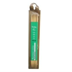 Cпицы Hobby&Pro носочные, бамбук, d5,0 мм, 20 см - фото 28352