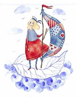 Набор для вышивания  Попутный ветер  (канва с фоновым рисунком, без ниток) - фото 28502