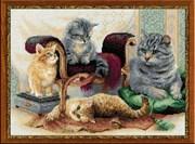 Набор для вышивания  Кошачье семейство