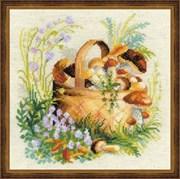 Набор для вышивания  Грибное лукошко