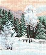 Рисунок на канве  Зимняя пора