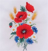 Набор для вышивки гладью  Маков цвет