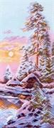 Рисунок на канве  Зимнее утро