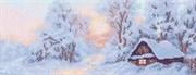 Рисунок на канве  Морозное утро