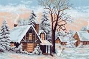 Рисунок на канве  Зима