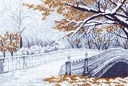 Рисунок на канве  Первый снег