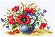 Рисунок на канве  Полевое соцветие