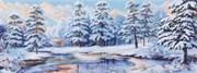 Рисунок на канве  Зимний лес