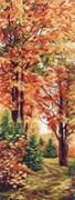 Рисунок на канве  Осенняя пора