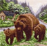 Рисунок на канве  Медвежий угол