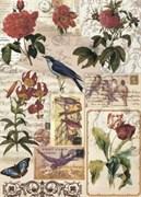Рисовая бумага для декупажа  Птички и Цветочки