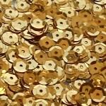 Пайетки круглые 6 мм цвет №А6 золото