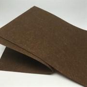 Фетр жёсткий, цвет: тёмно-коричневый