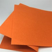 Фетр жёсткий, цвет: оранжевый (№ 021), 20 * 30 см, толщина 1 мм