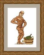Набор для вышивания  В здоровом теле - здоровый дух