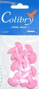 Носы для игрушек пластиковые розовые