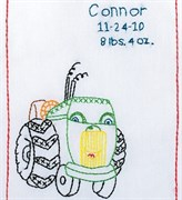 Вышивка метрика детская  Трактор