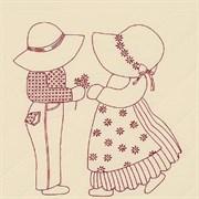 Ткань для вышивания  Сью и Сэм