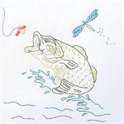 Ткань для вышивания  Рыбы