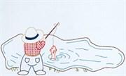 Детская наволочка  Рыбак