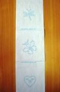 Ткань для вышивания: бабочка, стрекоза, сердце