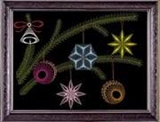 Нитяная графика  Новогоднее настроение