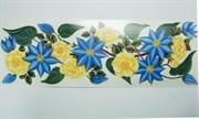 Виниловая наклейка  Клематисы и розы