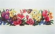 Виниловая наклейка  Тюльпаны, нарциссы, розы