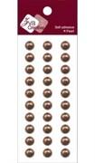 Полоски из жемчужин цвета шоколада 8 мм