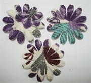 Цветы c фиолетовым принтом 75 мм