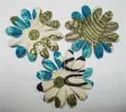 Цветы c голубым принтом 75 мм