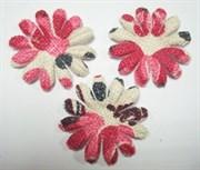 Цветы c розовым принтом 75 мм