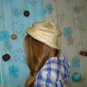 Шляпка соломенная бежевая 52 размер