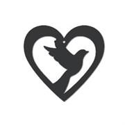 Акриловая форма Голубь в сердце