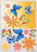Декупажная карта 3D  Яркие бабочки
