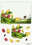 Декупажная карта 3D  Тюльпаны